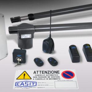 Kit for domestic gates